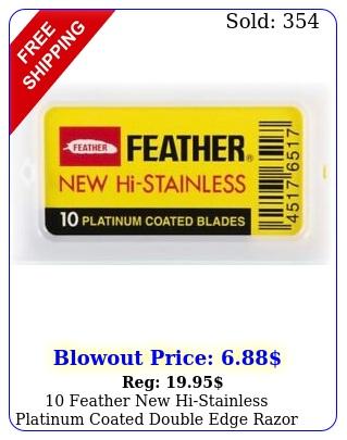 feather histainless platinum coated double edge razor blades japa