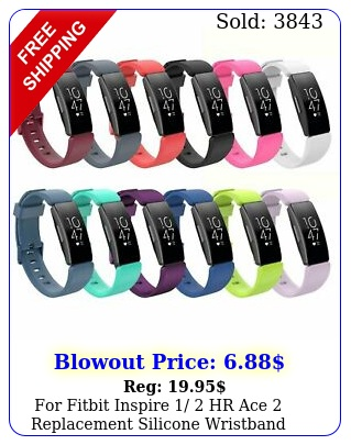 fitbit inspire  hr ace replacement silicone wristband strap watch ban