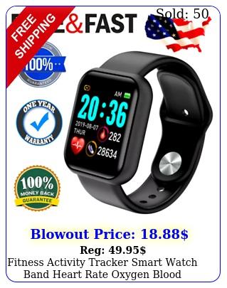 fitness activity tracker smart watch band heart rate oxygen blood pressure spor