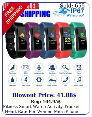 fitness smart watch activity tracker heart rate women men iphone ios androi