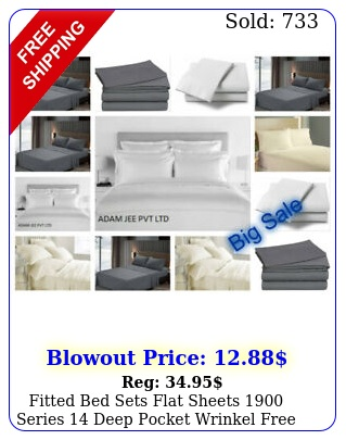fitted bed sets flat sheets series deep pocket wrinkel fre
