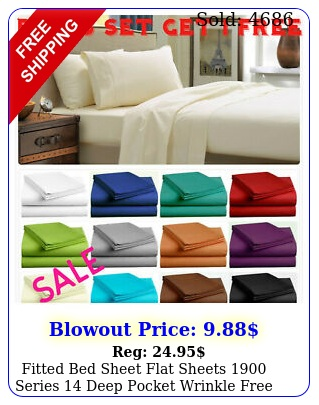 fitted bed sheet flat sheets series deep pocket wrinkle fre