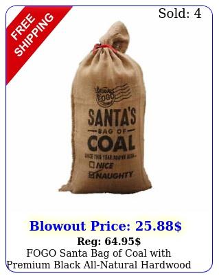 fogo santa bag of coal with premium black allnatural hardwood lump charcoa