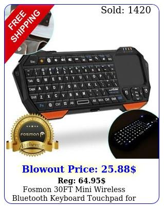 fosmon ft mini wireless bluetooth keyboard touchpad ios android window