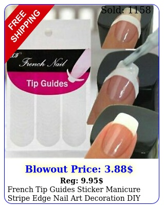 french tip guides sticker manicure stripe edge nail art decoration di
