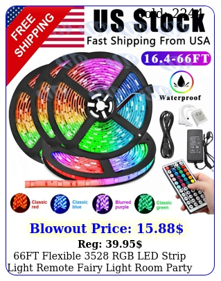 ft flexible rgb led strip light remote fairy light room party waterproo