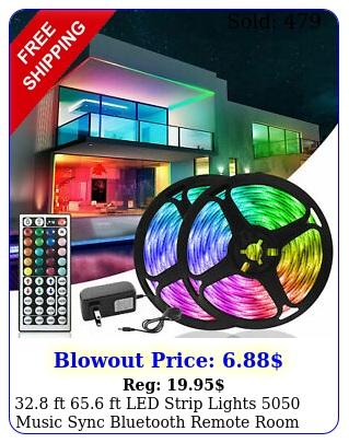 ft ft led strip lights music sync bluetooth remote room light ki