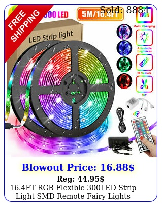 ft rgb flexible led strip light smd remote fairy lights room tv party ba