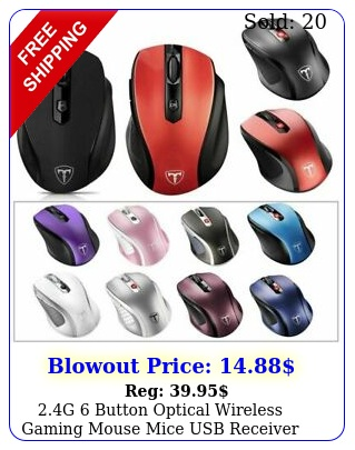 g button optical wireless gaming mouse mice usb receiver pc mac lapto