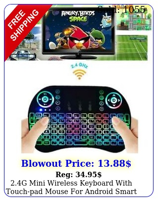 g mini wireless keyboard with touchpad mouse android smart tv p
