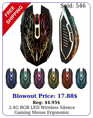 g rgb led wireless silence gaming mouse ergonomic rechargeable button mic