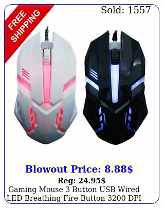 gaming mouse button usb wired led breathing fire button dpi laptop pc us