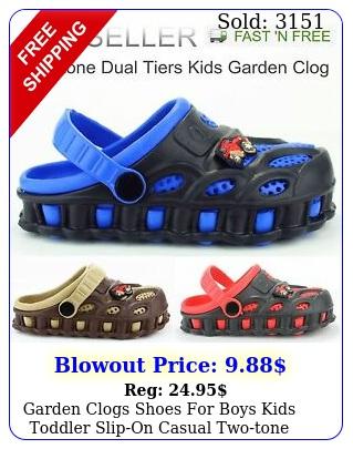 garden clogs shoes boys kids toddler slipon casual twotone slipper sandal