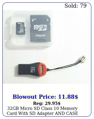 gb micro sd class memory card with sd adapter case  usb tf card reade