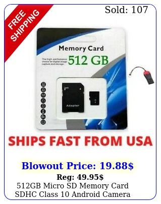 gb micro sd memory card sdhc class android camera smart phone adapte
