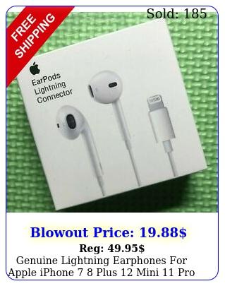 genuine lightning earphones apple iphone  plus mini pro max earpod