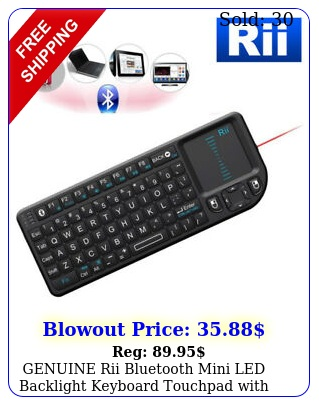 genuine rii bluetooth mini led backlight keyboard  touchpad with laser pointe
