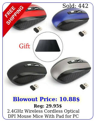 ghz wireless cordless optical dpi mouse mice with pad pc laptop typec u