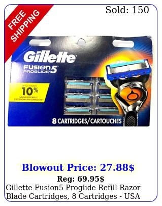 gillette fusion proglide refill razor blade cartridges cartridges us