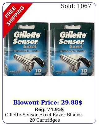 gillette sensor excel razor blades  cartridge