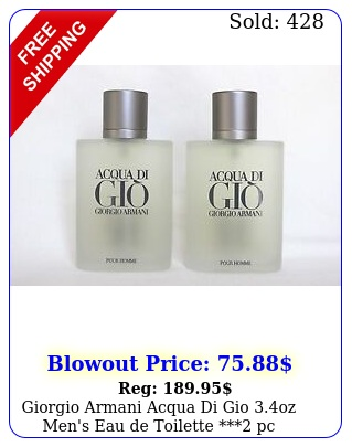 giorgio armani acqua di gio oz men's eau de toilette pc specia