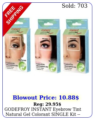 godefroy instant eyebrow tint natural gel colorant single kit  free shippin