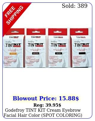 godefroy tint kit cream eyebrow facial hair color spot coloring free shippin