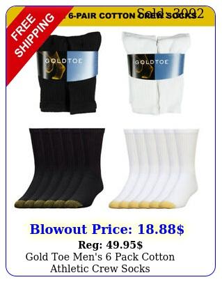 gold toe men's pack cotton athletic crew sock