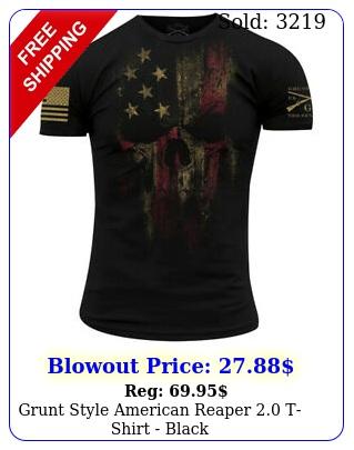 grunt style american reaper tshirt blac