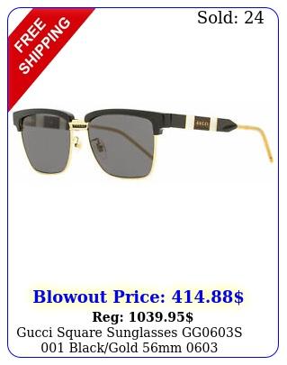 gucci square sunglasses ggs blackgold m