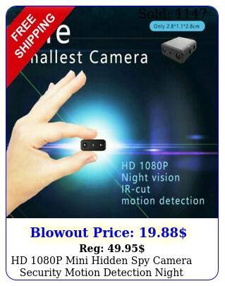 hd p mini hidden spy camera security motion detection night vision nanny ca