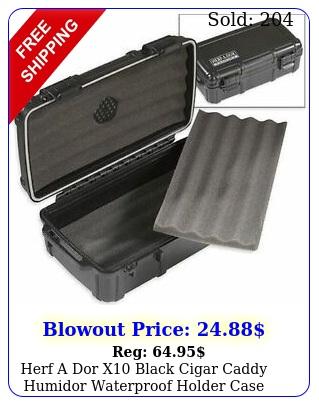 herf a dor x black cigar caddy humidor waterproof holder case humi car