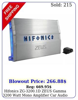 hifonics zgd zeus gamma watt mono amplifier car audio class d am