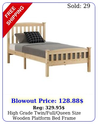 high grade twinfullqueen size wooden platform bed frame furniture wood colo