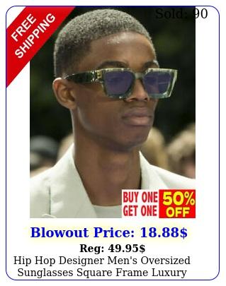 hip hop designer men's oversized sunglasses square frame luxury sunnies glasse