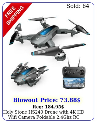 holy stone hs drone with k hd wifi camera foldable ghz rc quadcopter fp