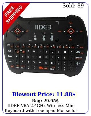 iidee va ghz wireless mini keyboard with touchpad mouse smart t