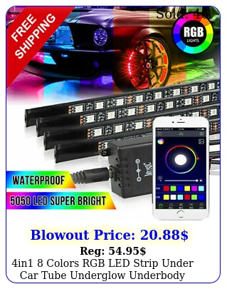 in colors rgb led strip under car tube underglow underbody system light kit