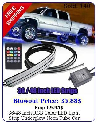 inch rgb color led light strip underglow neon tube car truck underbody ki