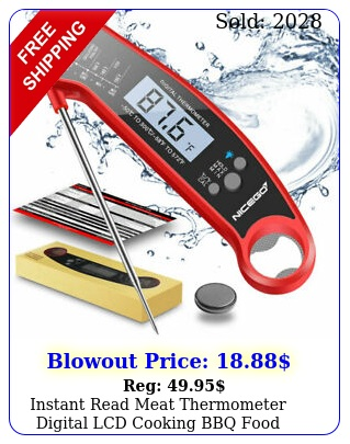 instant read meat thermometer digital lcd cooking bbq food thermomete