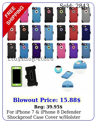 iphone  iphone defender shockproof case cover wholster belt cli