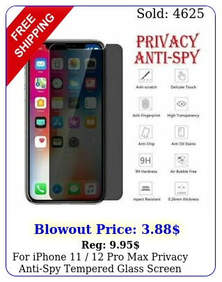 iphone  pro max privacy antispy tempered glass screen protecto