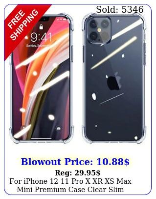 iphone  pro x xr xs max mini premium case clear slim shockproof cove