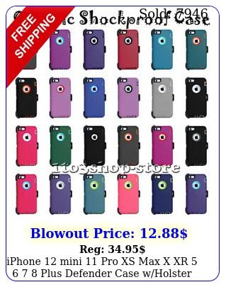 iphone mini pro xs max x xr   plus defender case wholster belt cli