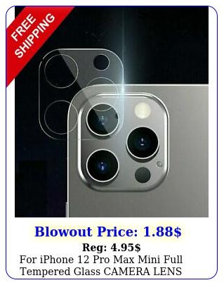 iphone pro max mini full tempered glass camera lens screen protecto