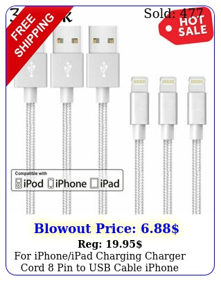 iphoneipad charging charger cord pin to usb cable iphone xsplu