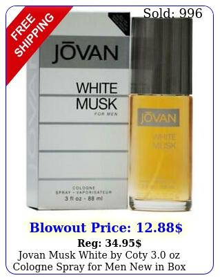 jovan musk white by coty oz cologne spray men i