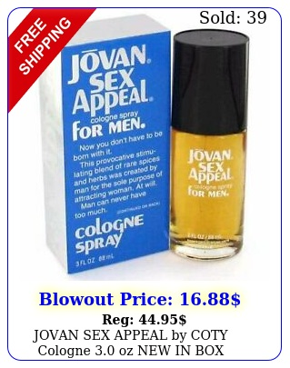 jovan sex appeal by coty cologne oz i