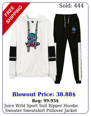 juice wrld sport suit ripper hoodie sweater sweatshirt pullover jacket wpan