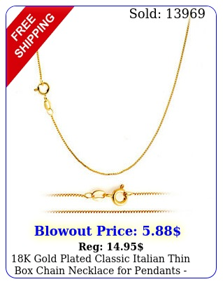 k gold plated classic italian thin chain necklace pendants all size